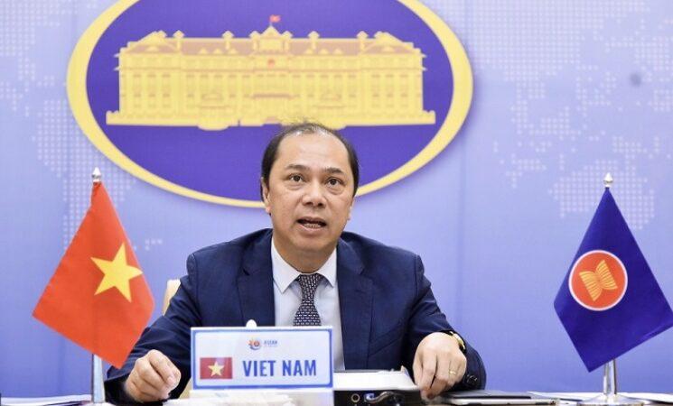 Quan chức cao cấp ASEAN và Trung Quốc họp Hội nghị Tham vấn theo hình thức trực tuyến