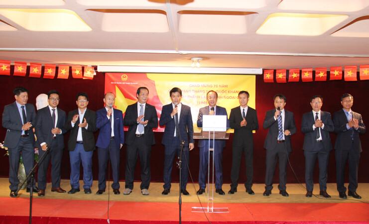 Đại sứ quán Việt Nam tại Pháp long trọng tổ chức  kỷ niệm 75 năm Quốc khánh, 75 năm thành lập ngành Ngoại giao